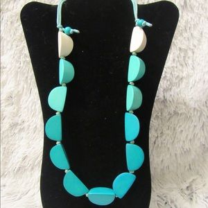 Jewelry - Teal hombre handmade necklace